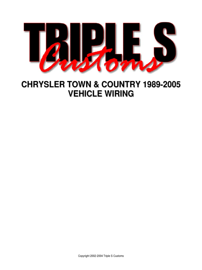 chrysler town and country 1989 2005 wiring diagram 2001 Chrysler Town and Country Fuse Diagram 1994 chrysler town and country wiring diagram