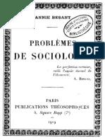 Besant Annie - Problemes de Sociologie