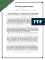 Torat Hanefesh – Semester Seminar (26 Shevat 5774)