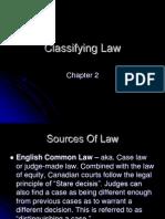 law 11 classifying law