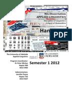 Writing Dissertations Leiden University Centre for Linguistics  PhD