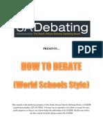 SASDB Handboook How to Debate