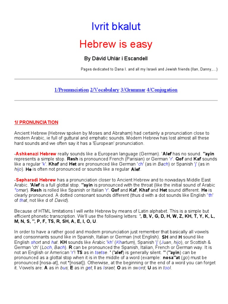 Hebrew Grammer | Grammatical Gender | Grammatical Number