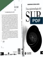 Una Epistemologia Del Sur Boaventura de Sousa
