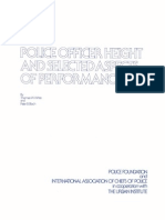 White, T. W., Bloch, P. B. - Police Officer Height And Selected Aspects Of Performance