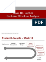 Week 10 - Nonlinear Structural Analysis - Lecture Presentation
