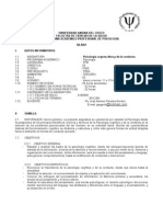 PSICOLOGÍA COGNOSITIVA Y DE LA CONDUCTA 2009-II