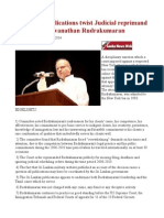 Sri Lanka Publications Twist Judicial Reprimand to Fefame Visuvanathan Rudrakumaran