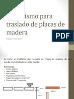 Mecanismo Para Traslado de Placas de Madera