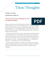 Think These Thoughts by Ogbo Awoke Ogbo