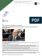 Azeredo Passal Mal e Adia Defesa Sobre Valerioduto