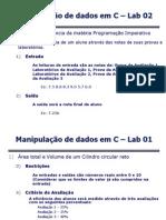 Lab 02 - Manipulação de Dados em C com Compilacao-1