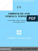 Orbifolds and Stringy Topology by Alejandro adem, Johann Leida & Yongbin Ruan