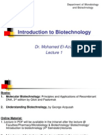 Lecture 1. Introduction to Biotech