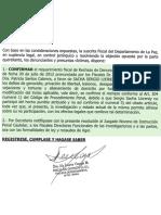 Fiscalia Departamental de La Paz Resolucion RVM-R-143-2014