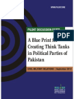 Creating Think Tank in Political Parties in Pakistan