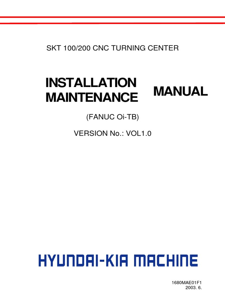 Hyundaiwia Skt100 200 Cnc Installation Maintenance Transformer 2000 Hyundai 15l Fuse Box Diagram Switch