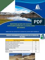 3. identificaci+¦n de fuentes contaminantes en la cuenca del r+¡o rimac