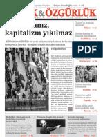 Ekmek ve Özgürlük - Aylık Siyasi Dergi - Ekim 2009 Sayı 2