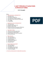 The Culture and Civilisation of Ancient India in Historical Outline by D D Kosambi