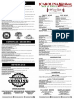 Carolina Kitchen menu