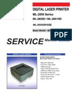 87579910 Samsung ML 2850 Series ML 2850D ML 2851ND Service Manual