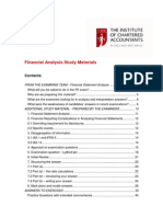 Financial Statement Analysis - Practice