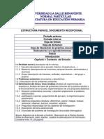 Estructura Documento Recepcional