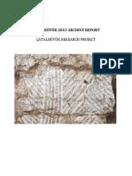 Archive Report 2013