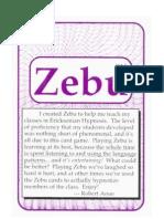 Zebu the Hypn Language Card Game Flashcards
