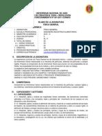 SILABO 2013 II- INGENIERÍA INDUSTRIAS ALIMENTARIAS