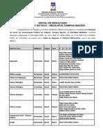 Edital de Reopção Nº 007 2014 - Resultado Final 2