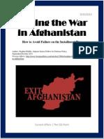 Ending the War in Afghanistan - 2013