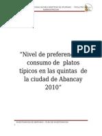 PLAN DE INVESTIGACIÓN DE MERCADOS CAPRICHITOS