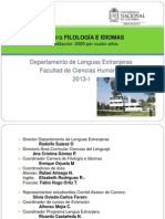 Carrera FILOLOGÍA E IDIOMAS2013-1