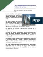 Inscritos en Bolsa de Caracas ADRs del Fondo de Valores Inmobiliarios