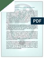 Análisis de afirmación de la profesora Cristina Sales Arasa