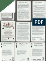 Zebu Hypnotic Language Card Game