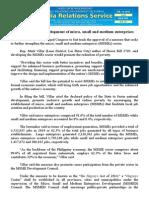 feb12.2014Solon promotes development of micro, small and medium enterprises