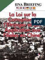 La Loi sur la Corruption a l'Entranger et son Application aux Filiales en Chine