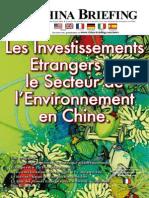 Les Investissements Etrangers et le Secteur de l'Environement en Chine