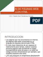 CREACIÓN DE PÁGINAS WEB CON HTML