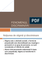 Fenomenul discriminari