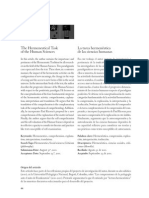 La Tarea Hermeneutica de Las Ciencias Humanas
