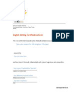 Certification English Editing 2013new