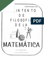 Filosofia de La Matematica