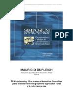 Simposio - Experiencias y Desafios en Microfinanzas y Desarrollo Rural