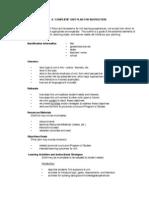 a complete unit plan organizer