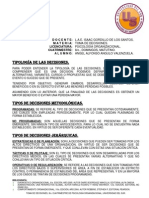 TIPOLOGÍA DE DECISIONES.