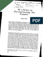 Notes on Deconstructing the Popular - Stuart Hall